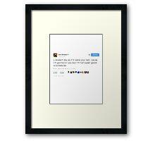 Joss Whedon Tweet Design Framed Print