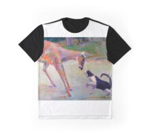 The Confrontation (cat and deer) Graphic T-Shirt