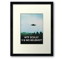 X-Files WTF SCULLY Framed Print