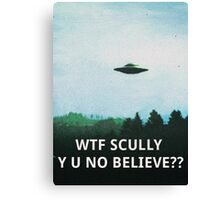 X-Files WTF SCULLY Canvas Print