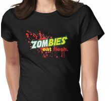 Zombies Eat Flesh Variant Womens Fitted T-Shirt