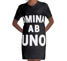 Omina Ab Uno [All As One] | White Ink Graphic T-Shirt Dress