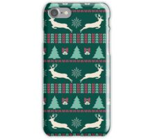 Christmas Pattern Green iPhone Case/Skin