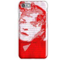 Red Lady Digital Art Portrait iPhone Case/Skin