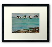 Old Harry Rock Watercolour Framed Print