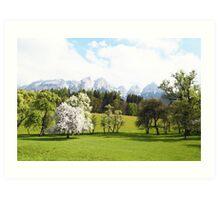 Green Spring Austrian Landscape Art Print
