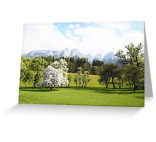 Green Spring Austrian Landscape Greeting Card