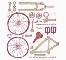 Bicycle Parts Kids Tee