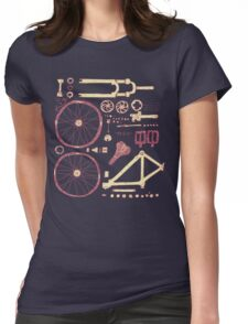 Bicycle Parts Womens Fitted T-Shirt