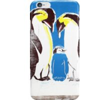 Penguins on tv iPhone Case/Skin