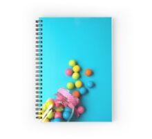 Bubblegum Rainbow Candy Flat lay Spiral Notebook