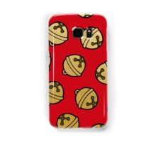 Jingle Bells Christmas Pattern in Gold and Red Samsung Galaxy Case/Skin