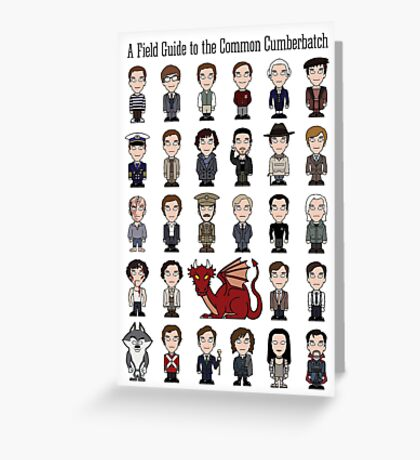 A Field Guide to the Common Cumberbatch (card/notebook) Greeting Card