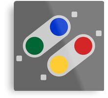 SNES Buttons (EU) Metal Print