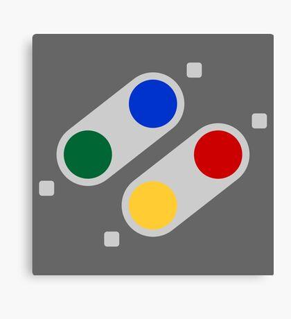 SNES Buttons (EU) Canvas Print