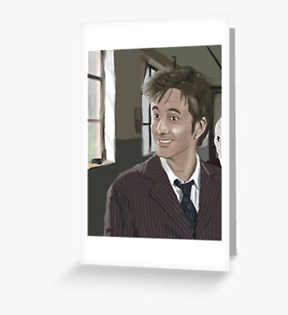 10th Doctor fanart Greeting Card