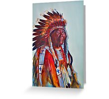Crazy Head, Cheyenne Chief Greeting Card