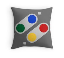 SNES Buttons (EU) Throw Pillow