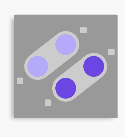 SNES Buttons (NA) Canvas Print