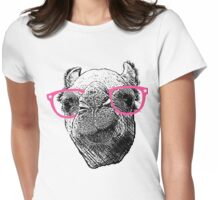 Who Needs to Know! Hipster Camel Hump Day Womens Fitted T-Shirt