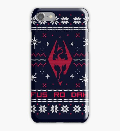 Ugly Sweater Skyrim iPhone Case/Skin