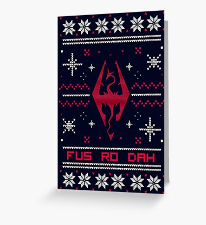Ugly Sweater Skyrim Greeting Card