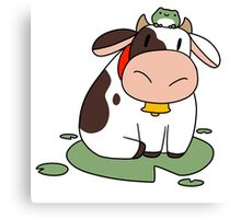 Lilypad Cow and Frog Canvas Print