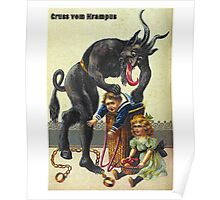 Gruss Vom Krampus Greetings From Christmas Demon  Poster