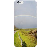 Double Rainbow over Golspie Beach and Ben Bhraggie iPhone Case/Skin