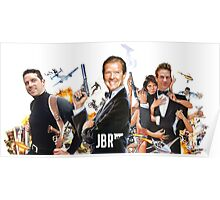 Roger Moore on James Bond Radio Poster