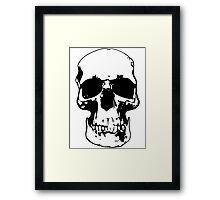 221b Skull Framed Print