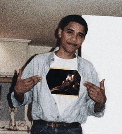 Barack Obama Off White Sticker