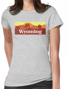 Scenic Wyoming Womens Fitted T-Shirt