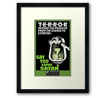 Say You Love Satan 80s Horror Podcast - Cronenberg Framed Print