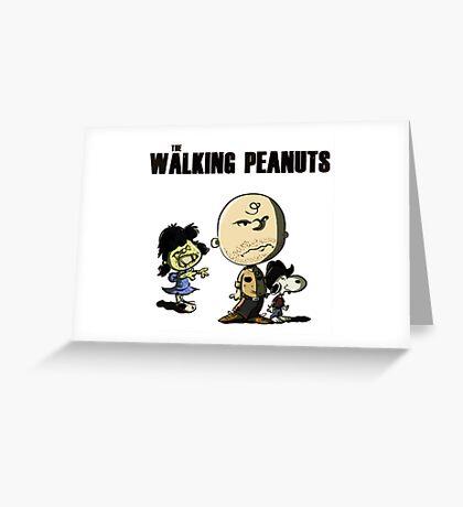The Walking Peanuts Greeting Card