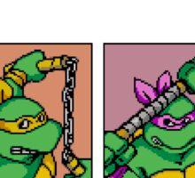 Teenage Mutant Ninja Turtles 80s Arcade Game Sticker
