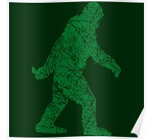 Gone Squatchin in Grunge Distressed Style Poster