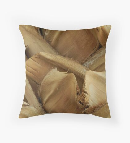 Palm trunk bark Throw Pillow
