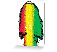 Dreadlock Rasta Greeting Card