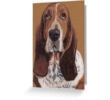 Basset Hound Vignette Greeting Card