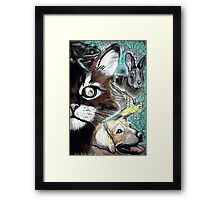 Tails from the Other Side: Proceeds to benefit Animal Rescue Framed Print