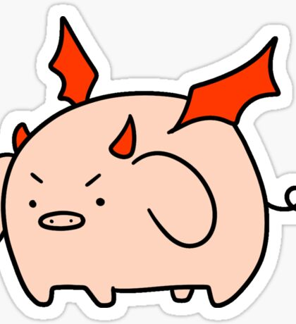 Red Devil Pig Sticker