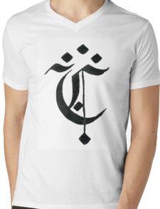 Gothic letter C Mens V-Neck T-Shirt