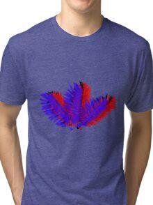 3D Leaves Tri-blend T-Shirt