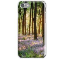 Bluebell woods in early morning sunrise iPhone Case/Skin