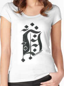 Gothic letter D Women's Fitted Scoop T-Shirt