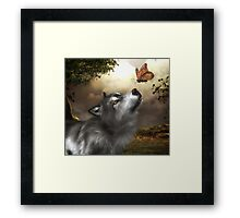 Butterfly Wolf Framed Print