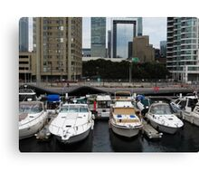 Looking Downtown Canvas Print