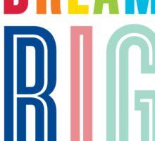 DREAM BIG QUOTE modern typography bright colors Sticker