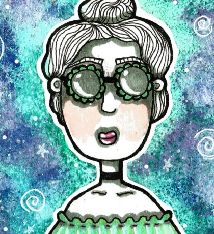 Galaxy Girl Sticker